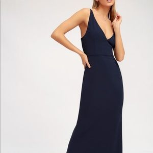 Melora navy blue maxi dress *new with tags*
